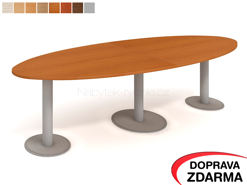 JS 3000 C Hobis - Jednací stůl elipsa 300 x 110