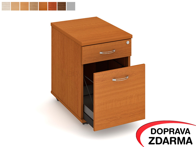 K 22 ZSC Hobis - Kontejner na kolečkách 2 zásuvky hl. 60 cm
