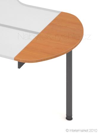 Přídavná deska s nohou Hobis ERG 120 - 120 x 40 - C