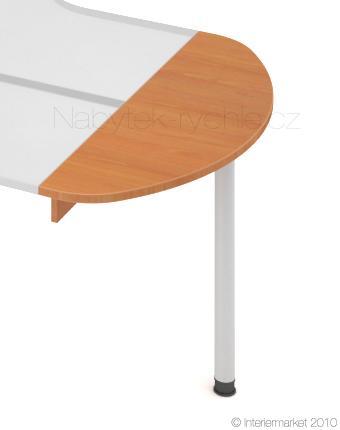 Přídavná deska s nohou Hobis ERG 120 - 120 x 40 - D