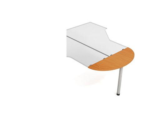 Přídavná deska s nohou Hobis ERGI 120 - 120 x 40