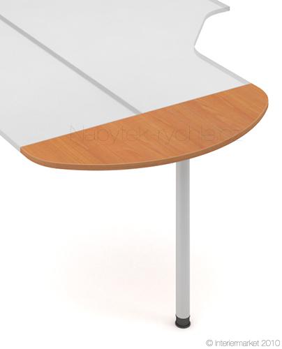Přídavná deska s nohou Hobis ERGN 120 - 120 x 40 - D