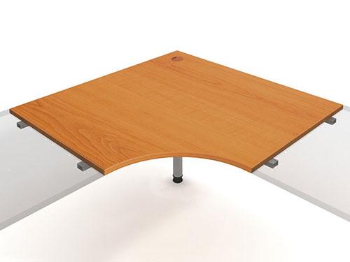 Spojovací deska s nohou Hobis ERGI 121 - 120 x 120 - Pracovní stoly