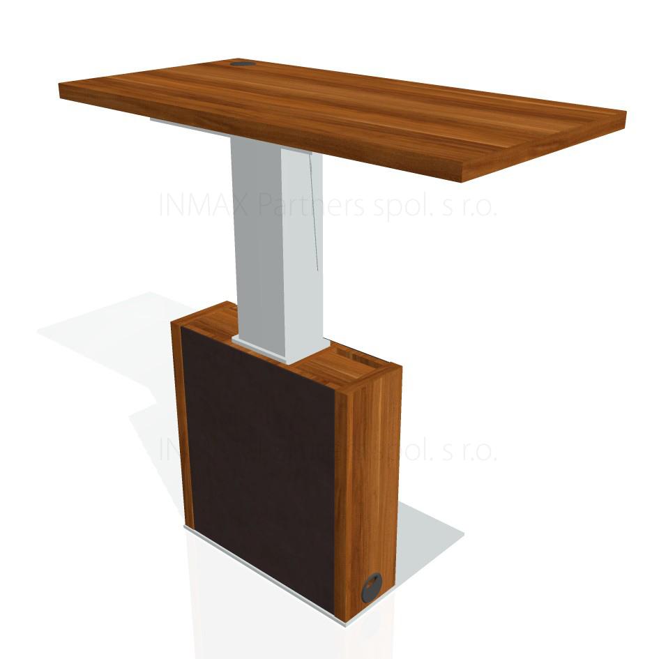 EE-2-K Exner Expo - stůl stavitelný elektrifikovaný, kůže