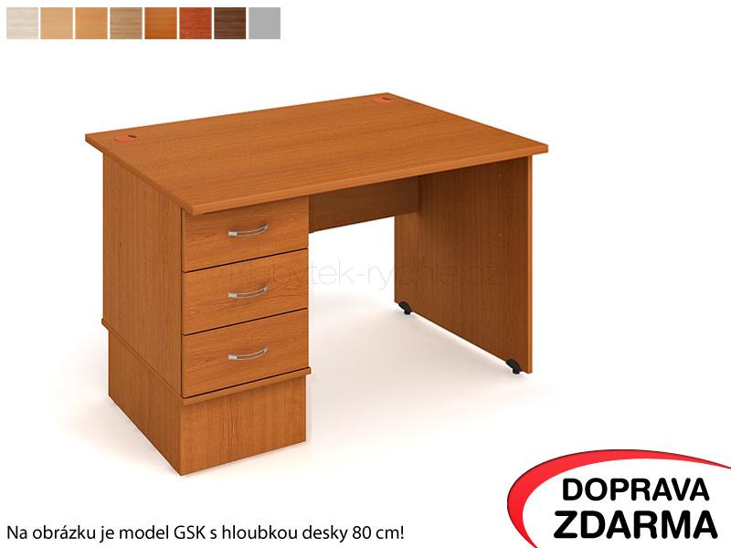 GEK 1200 23 Hobis Gate - Stůl s kontejnerem 3 zásuvky 120 x 60