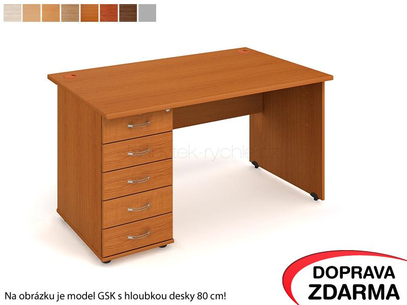 GEK 1400 25 Hobis Gate - Stůl s kontejnerem 5 zásuvek 140 x 60