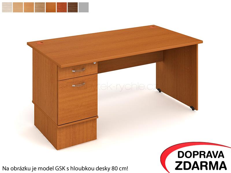GEK 1600 22 Hobis Gate - Stůl s kontejnerem 2 zásuvky 160 x 60