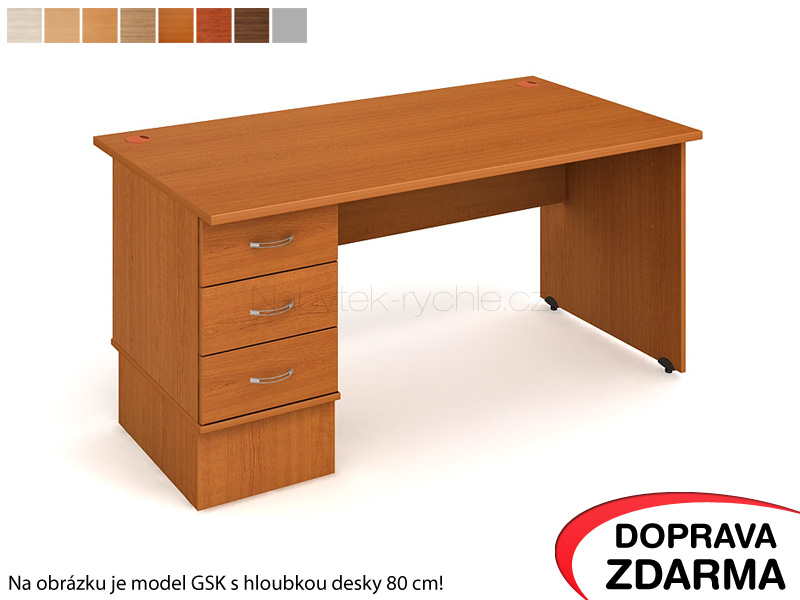 GEK 1600 23 Hobis Gate - Stůl s kontejnerem 3 zásuvky 160 x 60