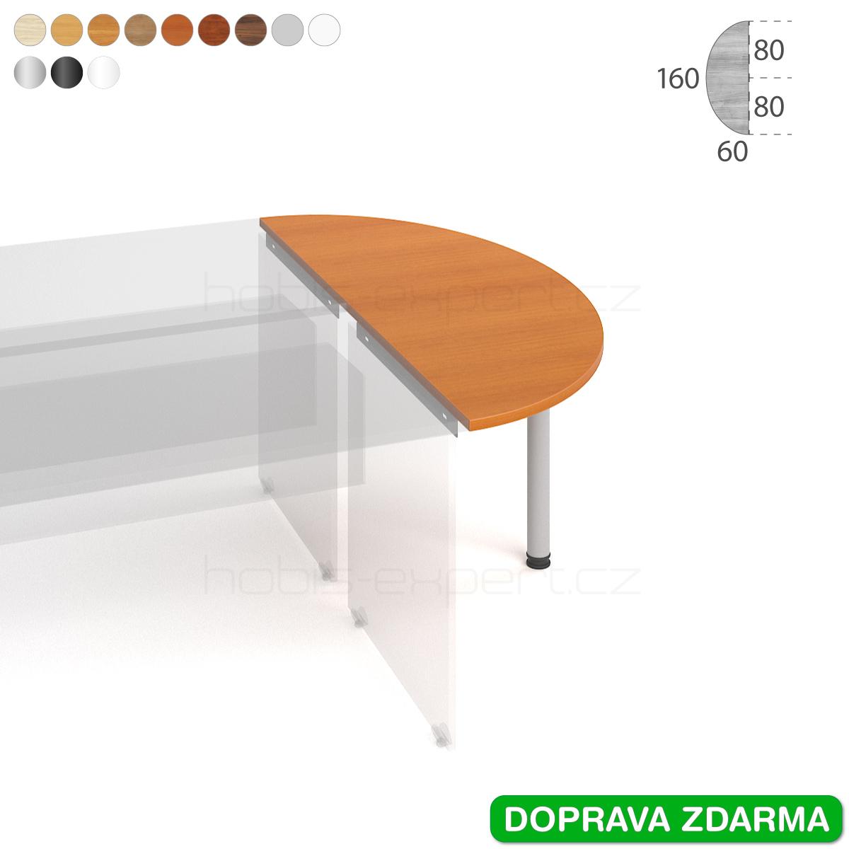 GP 160 Hobis Gate - Stůl přídavný 160 x 60 půlelipsa