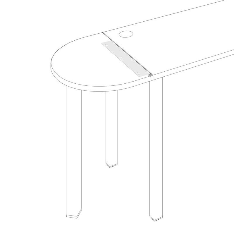 UL 600 - Spojovací úhelník pro stoly UNI hl. 60 cm