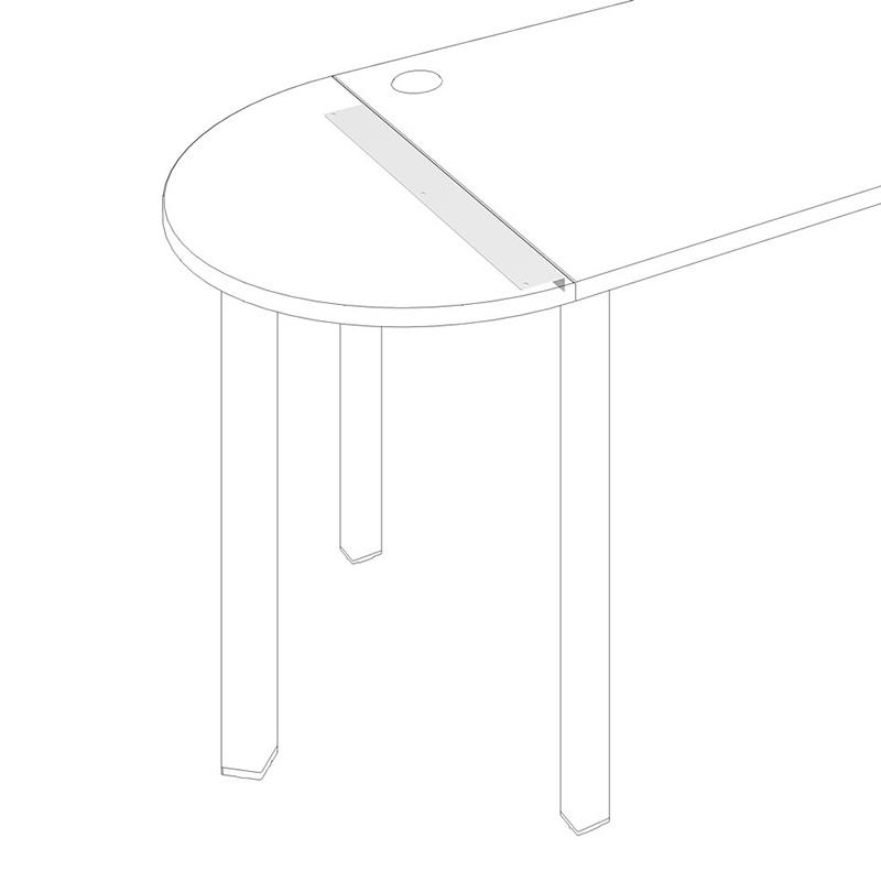 UL 800 - Spojovací úhelník pro stoly UNI hl. 80 cm