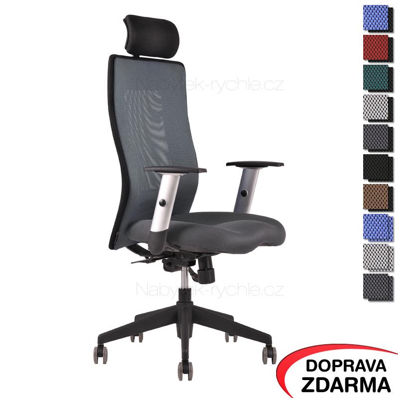 Židle Calypso Grand s podhlavníkem Celoantracit