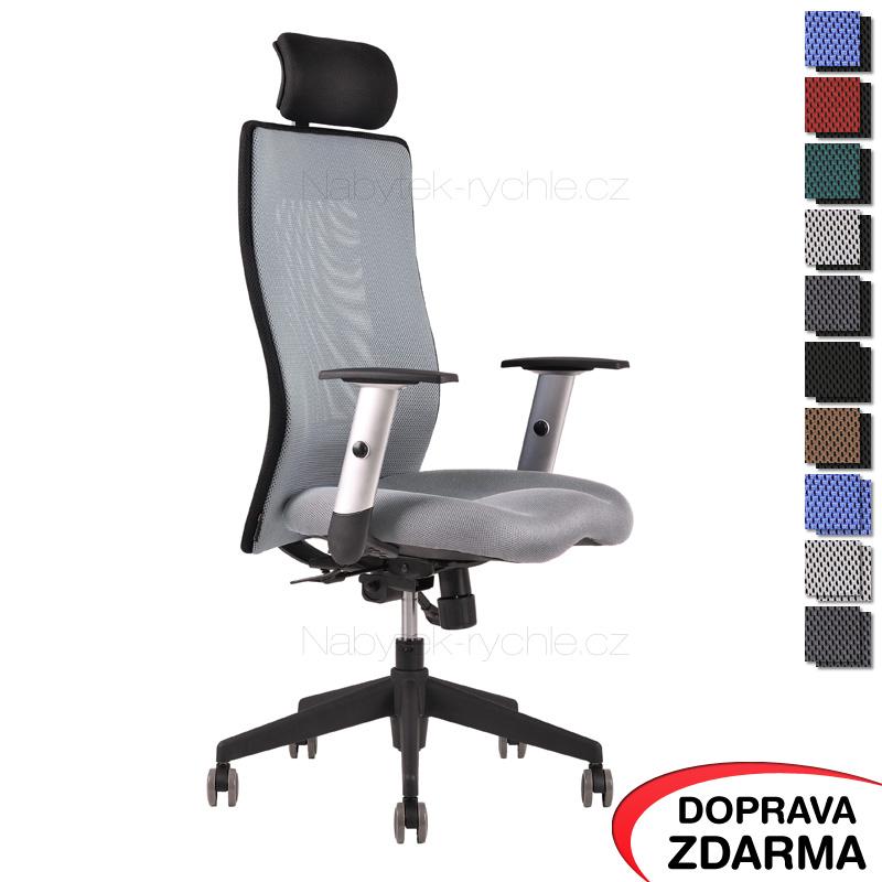 Židle Calypso Grand s podhlavníkem Celošedá