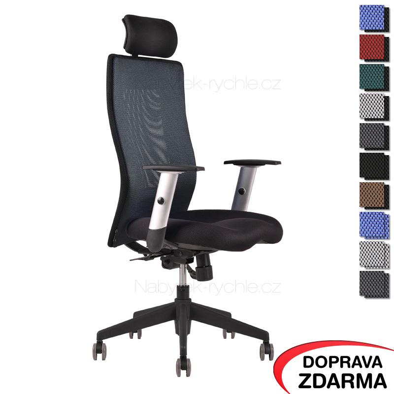 Židle Calypso Grand s podhlavníkem Černá