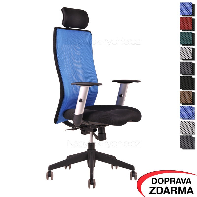 Židle Calypso Grand s podhlavníkem Modrá
