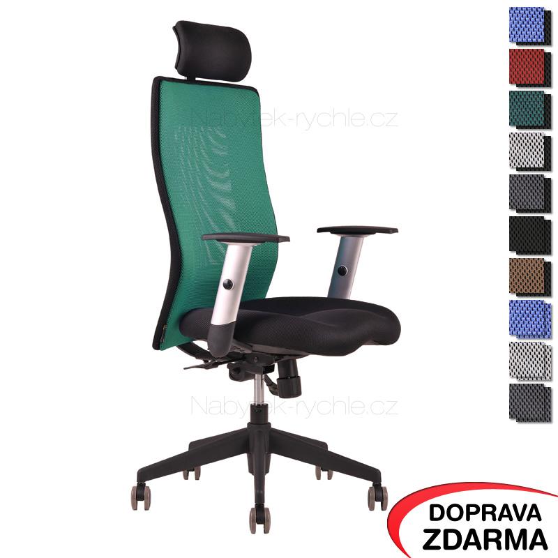 Židle Calypso Grand s podhlavníkem Zelená