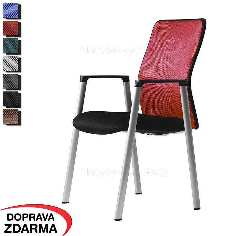 Jednací židle Calypso Meeting červená