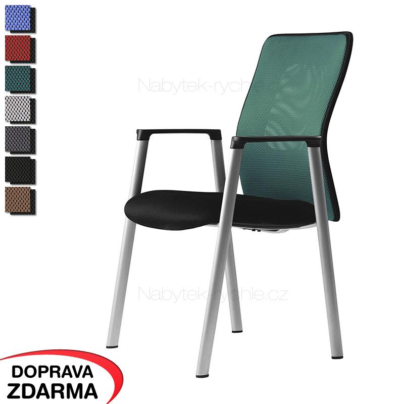 Židle s područkami Calypso Meeting zelená