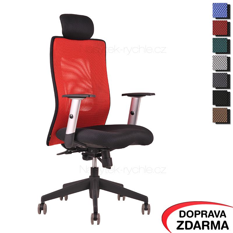 Židle Calypso XL SP4 Červená - Podhlavník pevný
