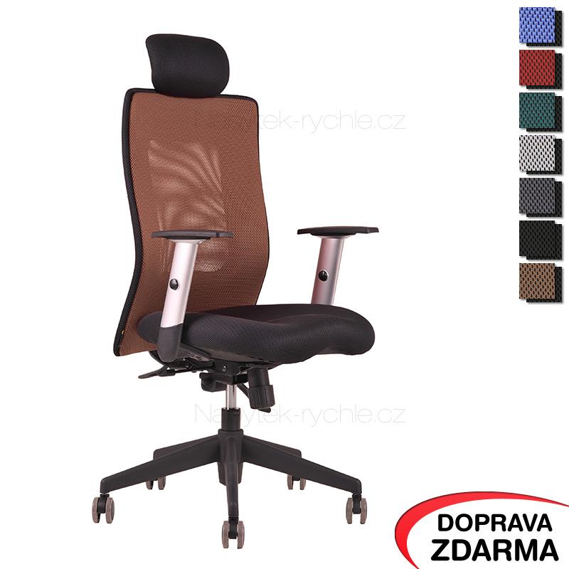 Židle Calypso XL SP4 Hnědá - Podhlavník pevný