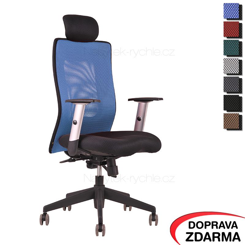 Židle Calypso XL SP4 Modrá - Podhlavník pevný