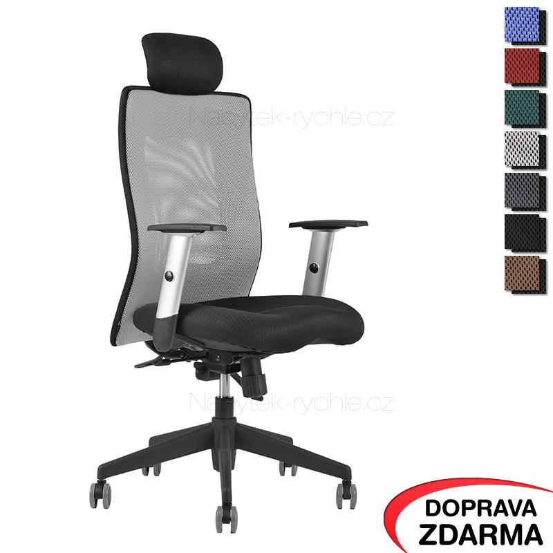 Židle Calypso XL SP4 Šedá - Podhlavník pevný