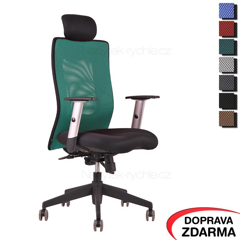 Židle Calypso XL SP4 Zelená - Podhlavník pevný