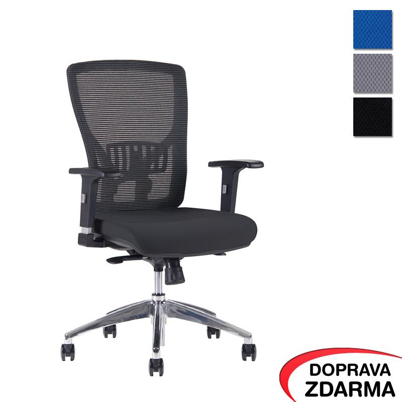 Židle Halia Mesh Chrom Černá