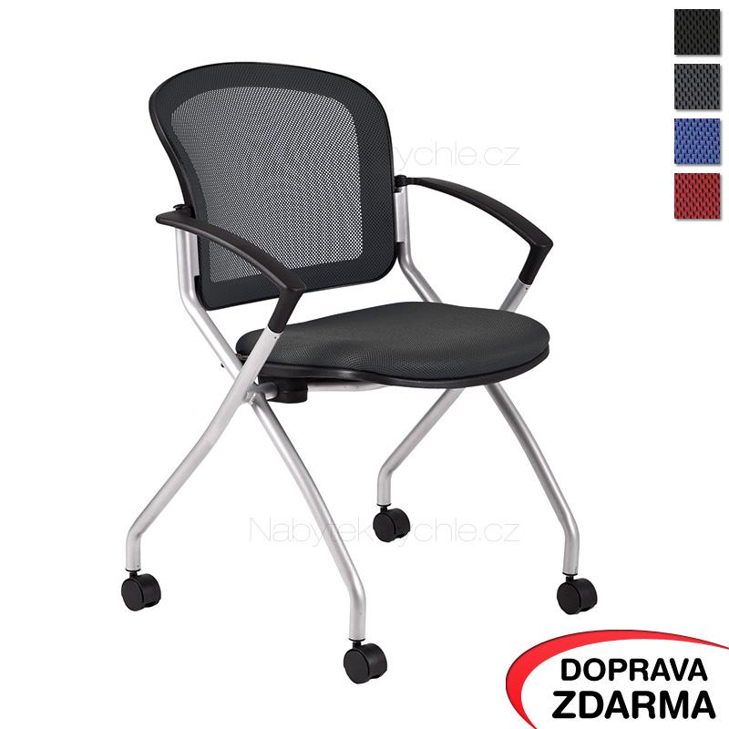 Jednací židle na kolečkách Metis černá
