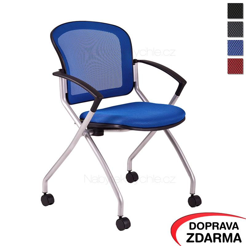 Židle na kolečkách Metis modrá
