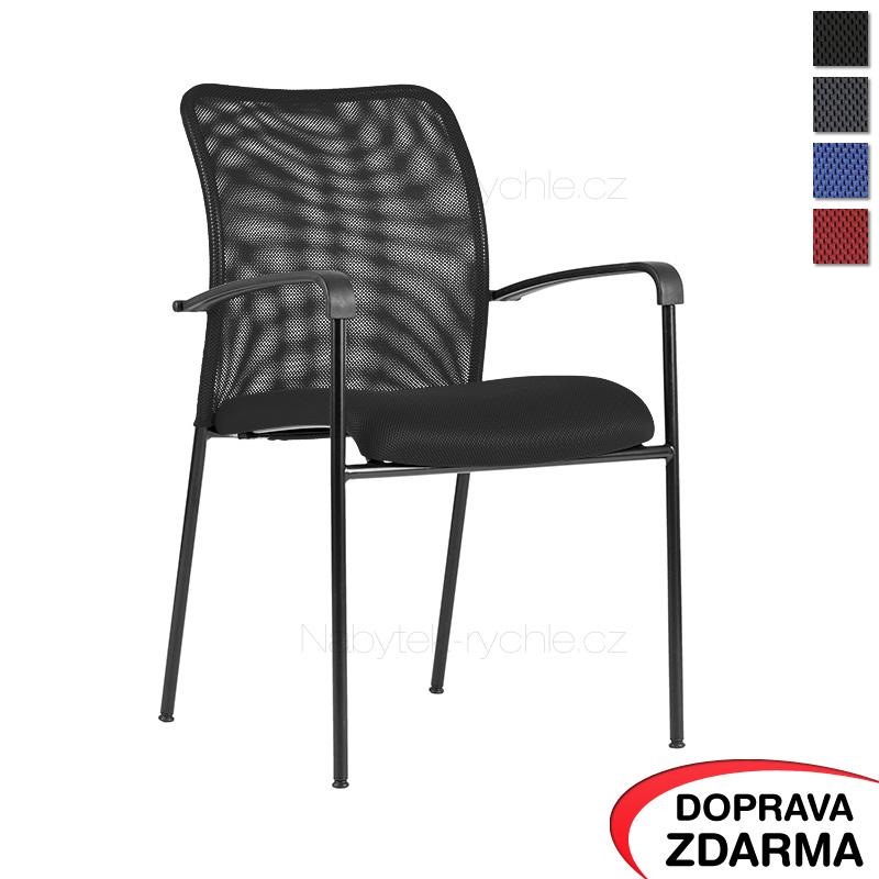 Židle s područkami Triton Black černá