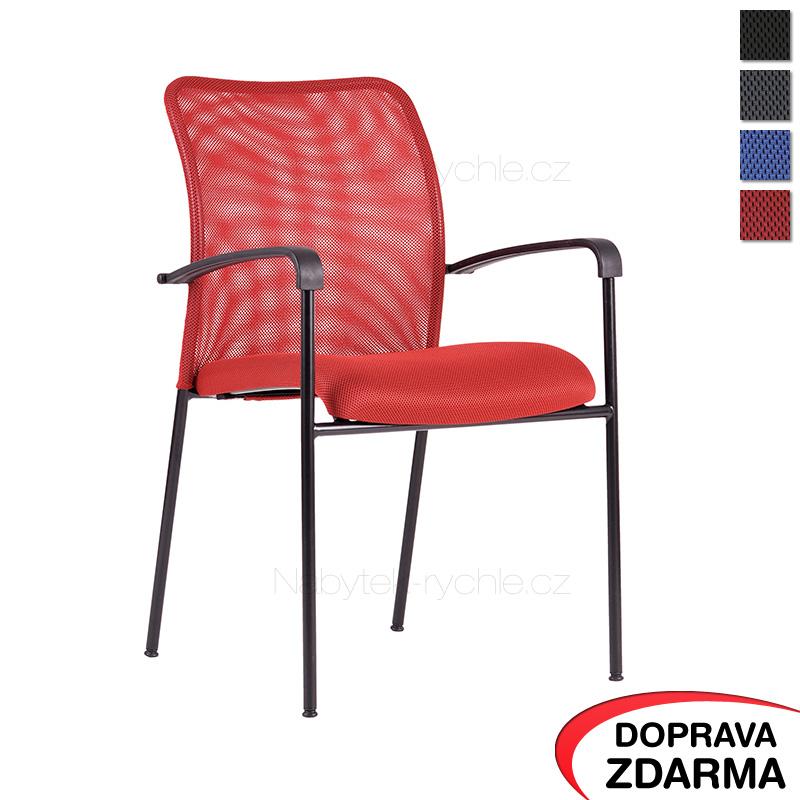 Jednací židle Triton Black červená