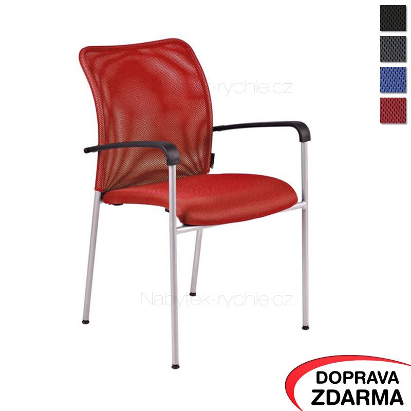 Jednací židle Triton Gray červená