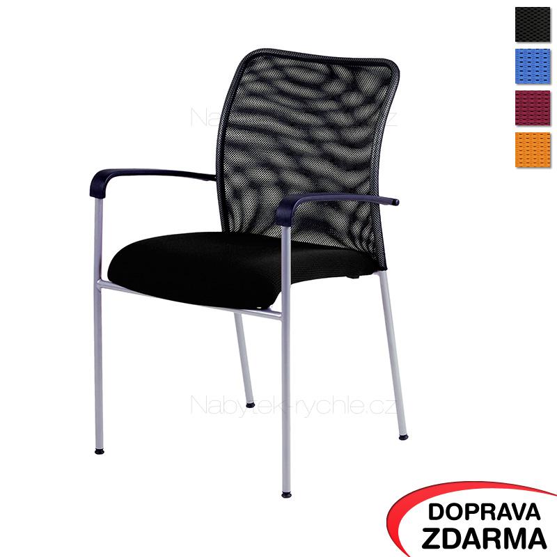 Židle s opěrkami Triton NET černá