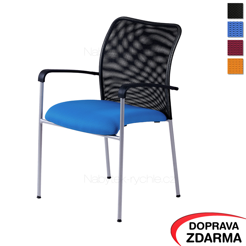 Židle s područkami Triton NET modrá